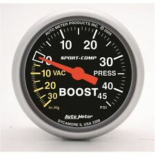 "AutoMeter 3308 Gauge, Vac/Boost, 2 1/16"", 30inHg-45psi, Mechanical, Sport-Comp"