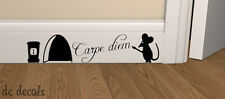 Mouse FORO Carpe Diem Wall Art Adesivo Vinile Decalcomania TOPI HOME elude Board