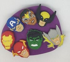 Marvel Avengers Silicone Mould/mold.Cupcake.topper.hulk.captain America.thor.ect