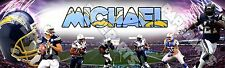 """San Diego Chargers Poster Banner 30"""" x 8.5"""" Personalized Custom Name Printing"""