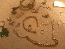 Vintage costume Jewlery penndents watch four leaf clover hearts  watch