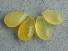 Natural Yellow Opal Faceted Pear Briolette Semi Precious Gemstone Beads 001