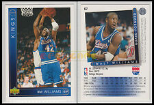 NBA UPPER DECK 1993/94 - Walt Williams # 67 - Kings - Ita/Eng - MINT