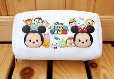 NEW Disney Tusm Tusm Canvas Pencil Bag Cosmetic Pouch - White Color
