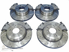 BMW E39 525i 525D FRONT & REAR DRILLED GROOVED BRAKE DISCS AND MINTEX PADS SET