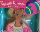 Barbie Doll Special Edition Easter Basket Pink Gingham Russell Stover Mattel