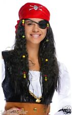 Wig PIRATE Headscarf and beads Costume Adult Man Woman Suit
