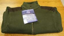 NEW Commando Style BLACK Quarter Zip Sweater Suede Patches Men's XL XLarge