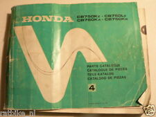 HONDA CB750 KZ,LZ,KA,KB PARTS CATALOGUE LIST NO 4 1980 MOTO