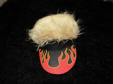 New visor with spiked hair cool dude flames hat dog costume pet clothes M/L