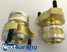 GO KART PAIR OF ALTO 25MM REAR GOLD HUBS NEW SHORT  / IAME HONDA CADET /