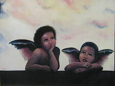 African American Baby Angels 16 X 20 Print Poster