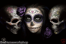 ANNE STOKES DAY OF THE DEAD - 3D CULT FANTASY PICTURE 400mm x 300mm