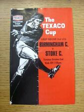02/10/1973 Birmingham City v Stoke City [Texaco Cup] (4 Pages, Folded, Team Chan