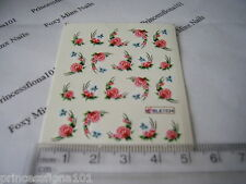 Nail tip Art stickers transfer Wrap water decals Pink Rose Flower Manicure B1534