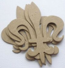 "{4} *VINTAGE FLEUR DE LIS* Flourish Accent - Chipboard Die Cuts - 2 1/4"" x 3"""
