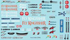 Decal Sheet 1/10 Sticker F1 VJM02 2009 Tamiya XRAY Serpent d1315