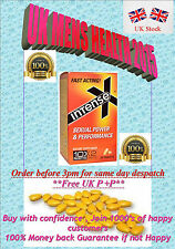 100 x YELLOW INTENSE X  20mg ERECTION SEX AID + PILLS