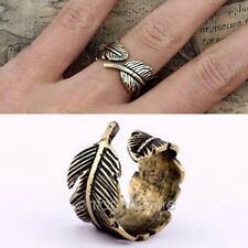 1 Pcs New Style Donne Uomini Vintage Feather Ring Charms Dito Anelli Jewelry HYH