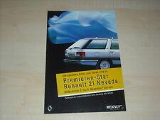 46673) Renault 21 - Espace J11 - Alpine V6 Prospekt 1986