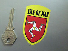 ISLE OF MAN Shield TT Races Classic Bike Race STICKERS 70mm Pair Racing Manx