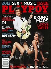 Playboy Magazine April 2012 Bruno Mars / John Hamm Interview