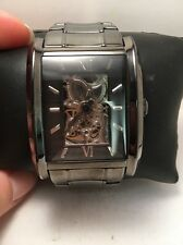 RELIC BY FOSSIL MEN'S SKELETON COLLECTION BLACK IP WATCH ZR77206-H72