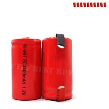 10 x Sub C 1.2V 3400mAh NiMH Rechargeable Battery red