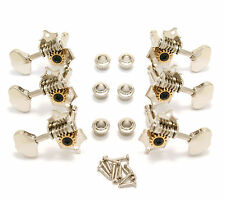 V97N Grover Original Nickel Sta-Tite 3 x 3 Open Gear Guitar Tuners 14:1 Ratio