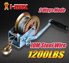 1200LBS/544KGS 2-Ways Steel Cable Hand Winch Manual Car Boat Trailer Camper