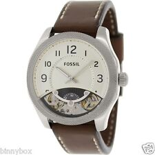 New Fossil ME1152 Machine Twist Brown Leather Men's Watch in Original BOX NEW