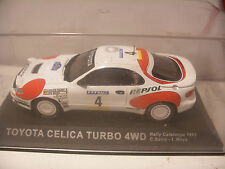 Voiture IXO ALTAYA 1/43 TOYOTA CELICA TURBO 4WD Rally Catalunya 1992 C.Sainz