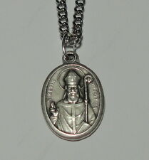 St Kevin of Glendalough Holy Medal on Chain Patron of Blackbirds & Other Animals