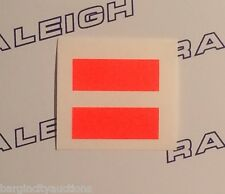 RALEIGH CHOPPER MK1 & MK2 GEAR SLIDER SHIFTER DECAL IN DAYGLO ORANGE X 2