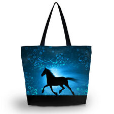 Horse Soft Foldable Tote Women's Shopping Bag Shoulder Carry Bag Handbag