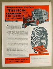 Original 1947 Farmall M - Firestone  Tire Ad DAVID WING Mechanicsburg Ohio