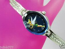 P94:New $29.99 Disney TinkerBell Women's Analog Watch-Silver Tone