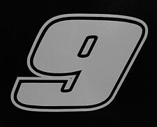 (2) # 9 Chase Elliott Racing Vinyl Die Cut Decal Nascar Sticker 5""