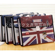 12 Pockets A4 Accordion Office Expanding File Folder Organizer Buckle Britain