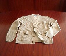 New Polo Ralph Lauren Men's Linen & Cotton Knitted Cardigan Camel Brown M