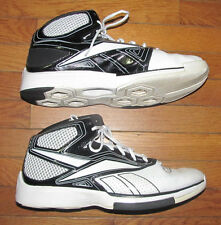 Mens Size 15 Basketball Fashion Shoes Reebok Black & White