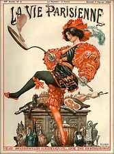 1925 La Vie Parisienne Carnaval Bombanca France Travel Advertisement Poster