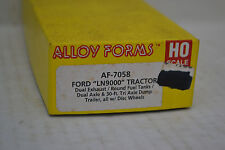 Alloy Forms 7058 Ford LN9000 w/30' Tri-Axle Dump Trailer Ho Scale Metal Kit