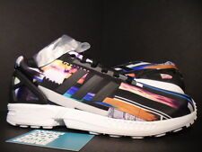ADIDAS ZX FLUX PHOTO PRINT PACK CITYSCAPE PRISM BOOST BLACK TRUE BLUE WHITE 10.5