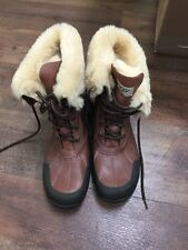 UGG AUSTRALIA BUTTE MENS BROWN WATERPROOF LEATHER BOOTS US 11