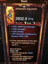 DIABLO 3 PRIMAL ANCIENT JOHANNAS ARGUMENT NEW PATCH 2.5 CRUSADER WEAPON XBOX ONE