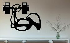 Sport Gym Hantel Arm Sport Wandtattoo Wallpaper Wand Schmuck 56 x 76 cm
