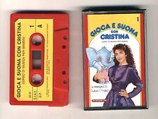 GIOCA E SUONA CON CRISTINA D'AVENA Musicassetta 1 OTTIMO Mc Audiocassetta 1988