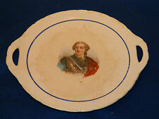 ST AMAND louis xv ASSIETTE PLAT DINOISE MADE in FRANCE king of france