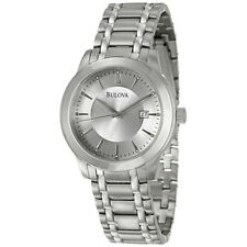 BULOVA MEN'S 96B165 DRESS STAINLESS STEEL SILVER DIAL 40MM QUARTZ WATCH